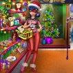 Girl game Dotted Girl Christmas Shopping