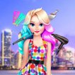Girl game Elizas Neon Hairstyle