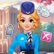 Girl game Blonde Princess Cabin Crew Makeover