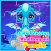 Girl game Cute Unicorns and Dragons Puzzle