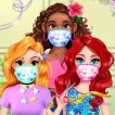 Girl game DIY Princesses Face Mask