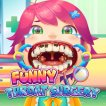 Girl game Funny Throat Surgery