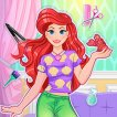 Girl game Magical Mermaid Hairstyle